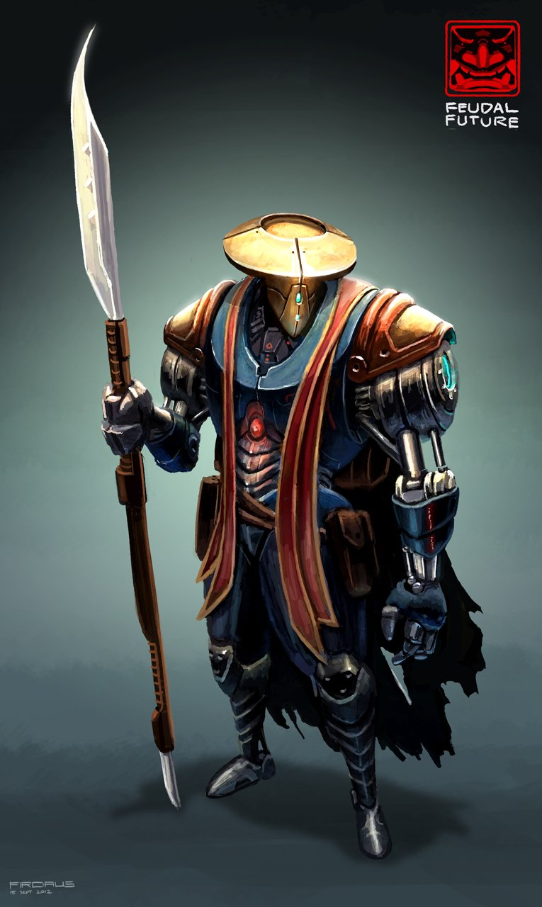 Feudal Future - Polearm Samurai por Freakyfir