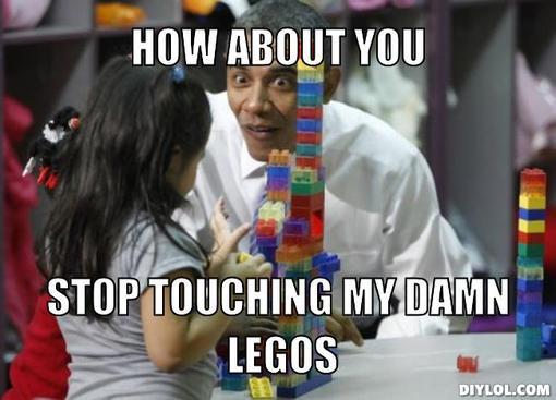 Stop touching my LEGOS