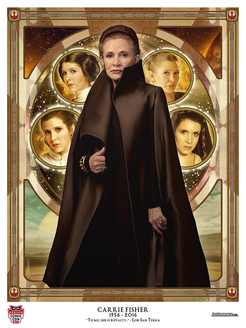 Star Wars The Last Jedi Leia Organa Carrie Fisher