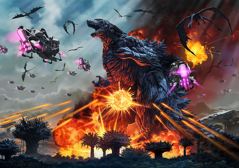 Godzilla Planeta de los Monstruos Batalla