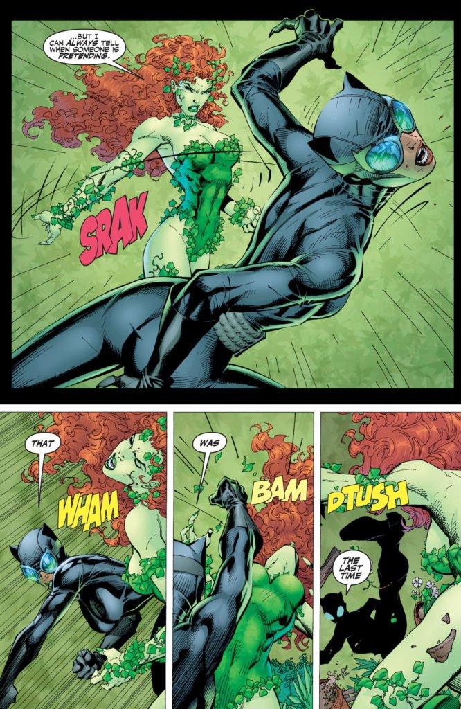 Batman Hush - Poison Ivy y Catwoman combatiendo