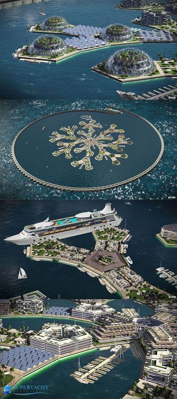 Colonizar los Mares - Islas Artificiales Flotantes