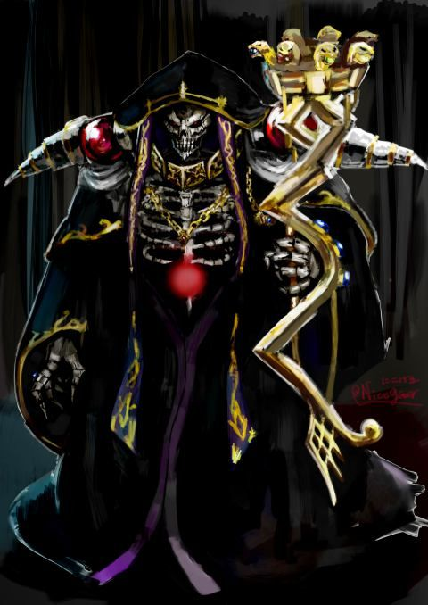 Los Magos Más Poderosos de la Ficción - Ainz Ooal Gown