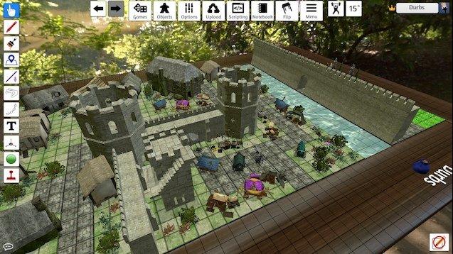 Tabletop Simulator Dungeons & Dragons Castillo