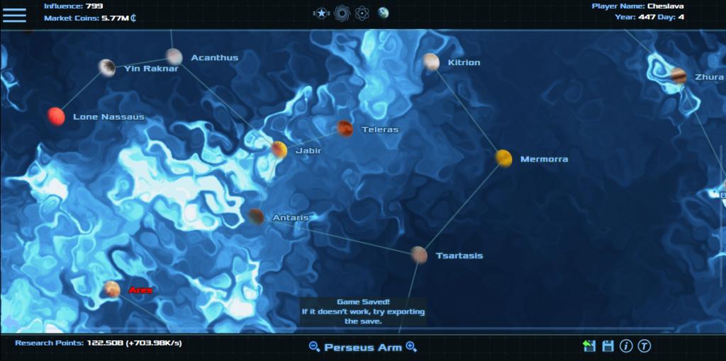 Heart of Galaxy Horizons - Mapa