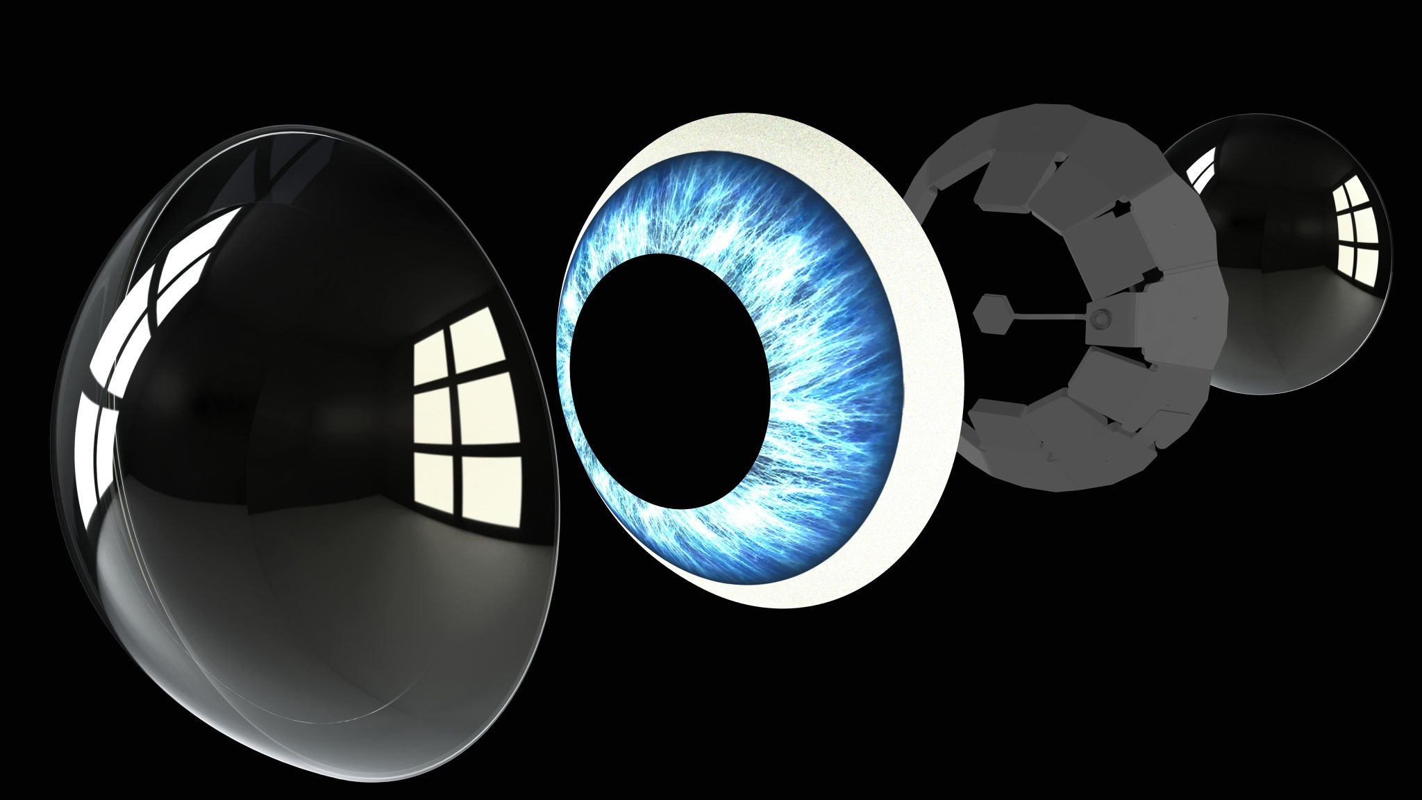 Mojo - augmented reality contact lens - assembly