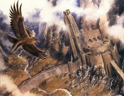 gandalf-escapes-on-gwaihir-by-alan-lee